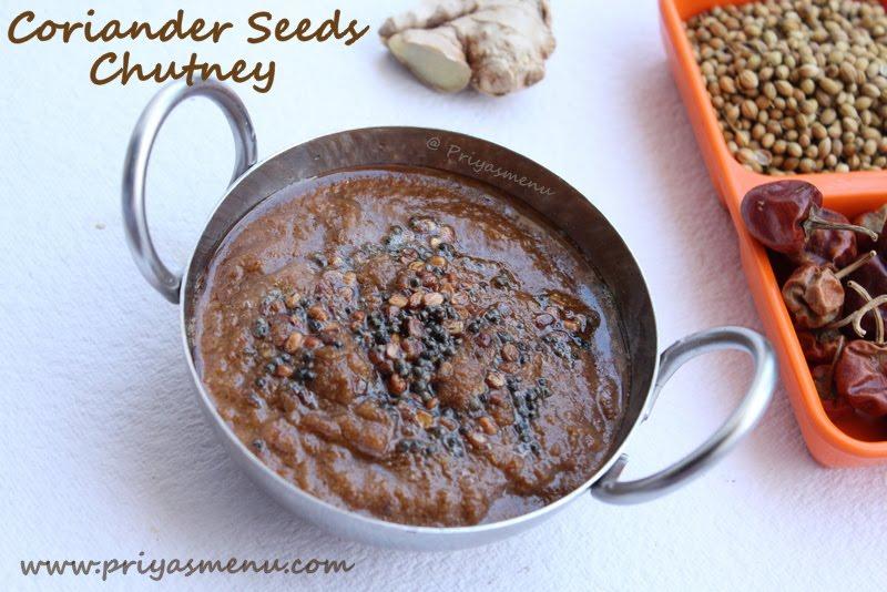 Coriander Seeds Chutney