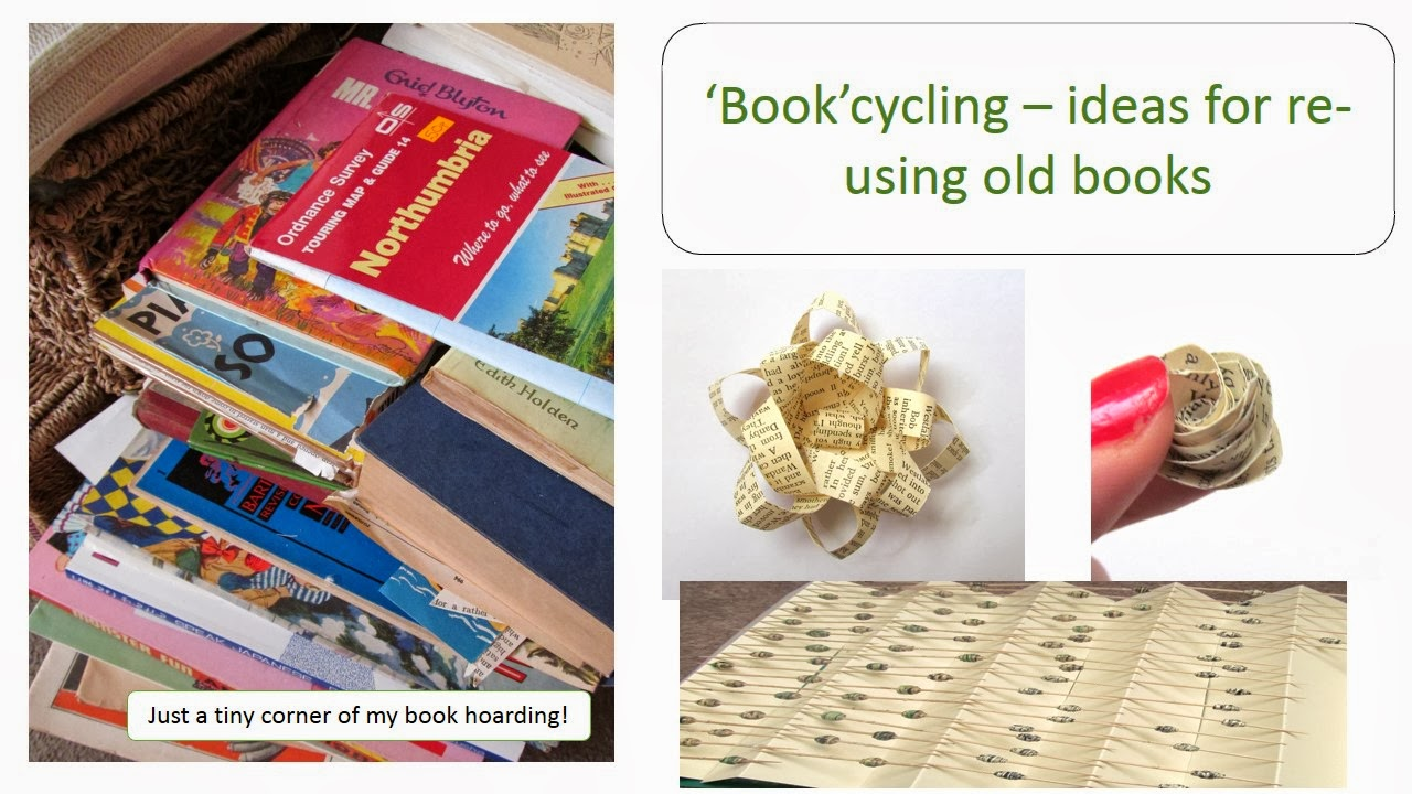 Pink flamingo handcrafting 39 book 39 cycling things to for How to make an old book