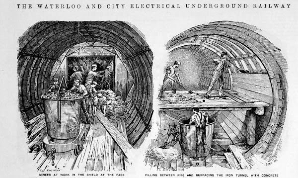 Shield Tunneling Waterlooo & City Railway