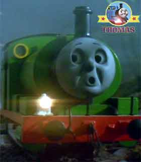 Moving in the haunted mine night mist bouncing buffer cried Thomas and friends Percy the tank engine