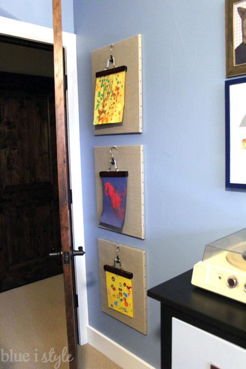 Pant Hanger Art Display for Boy's Room