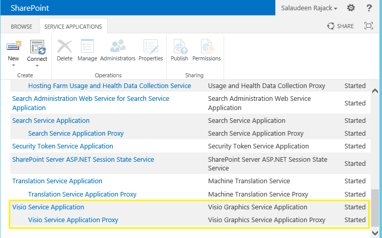 sharepoint 2013 configure visio services