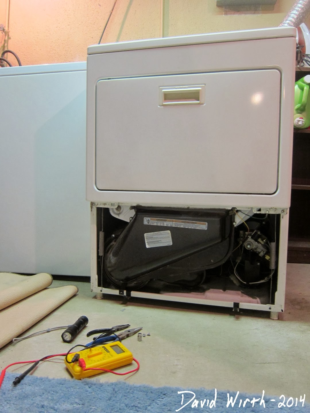 how to fix a kenmore maytag gas dryer, no flame, won't heat