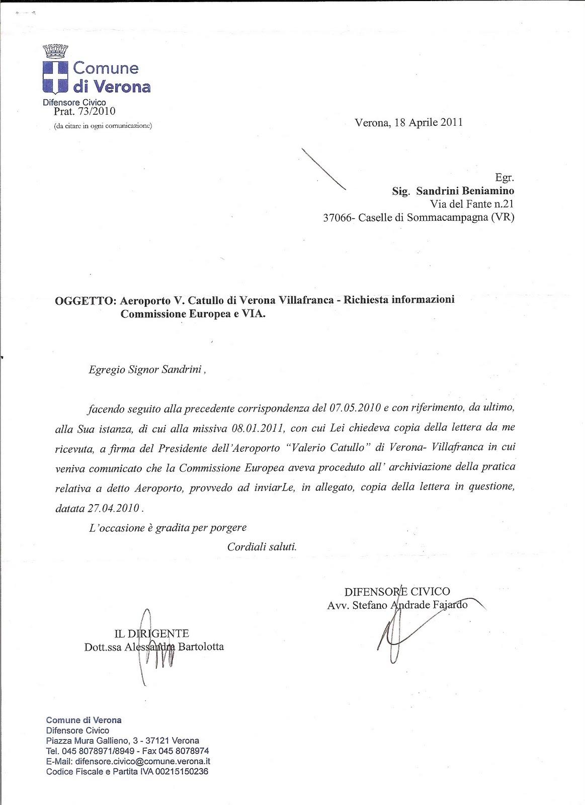 Sulle lettere tra la commissione europea e le autorit for Dichiarazione di missione adobe