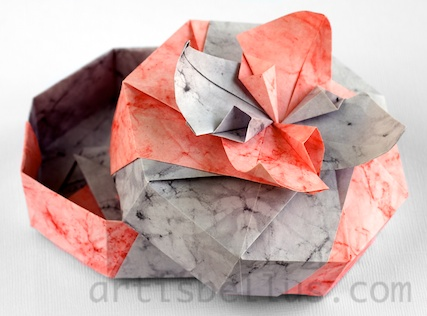 Origami boxes flower box origami artis bellus origami boxes flower box mightylinksfo Choice Image