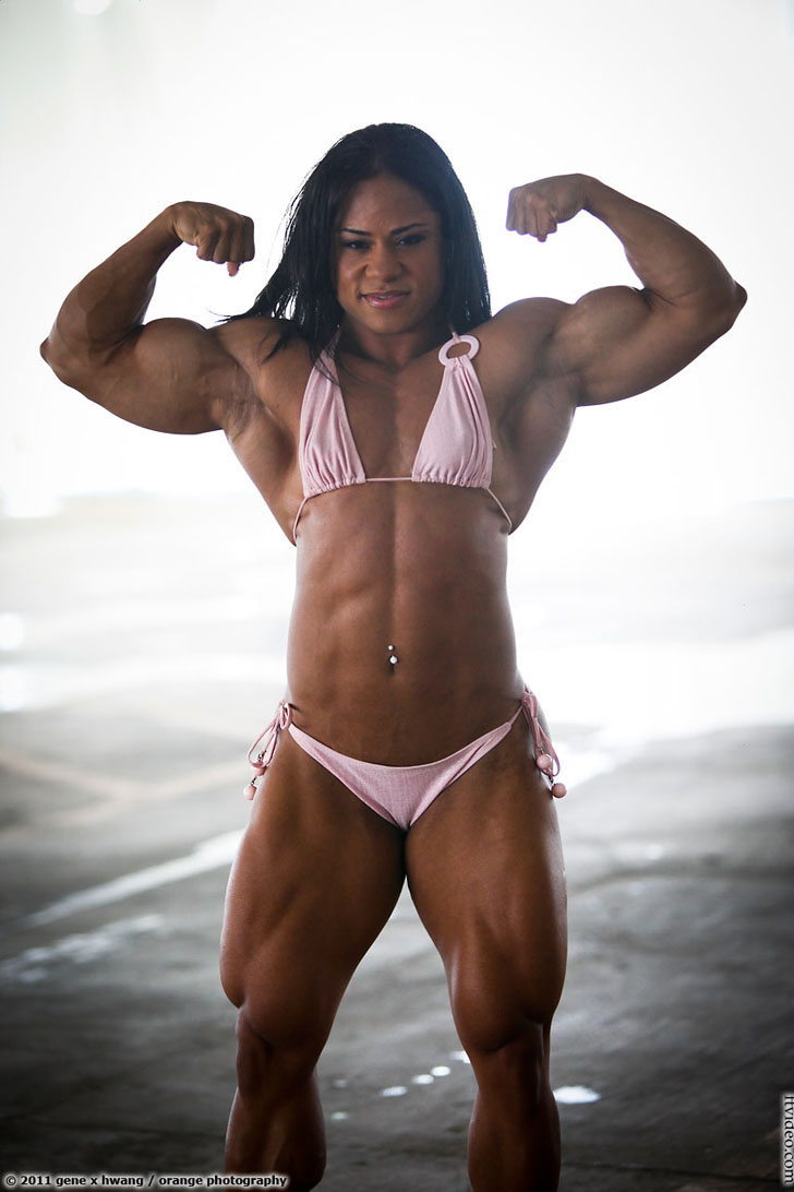 Kashma Maharaj Flexes Her Awesome Biceps And Ripped Physique In A Bikini