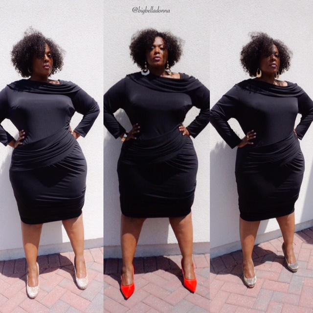 little black dress, monif c, full figured fashion, plus size fashion, nicole dress, plus size women