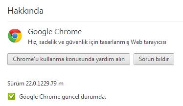 Google Chrome 22 hakkında