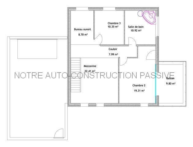 Notre auto construction passive maison ossature bois m for Papier pour permis de construire