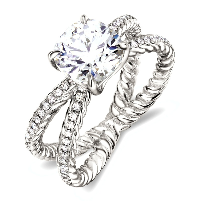 David Yurman Crossover Wedding Ring