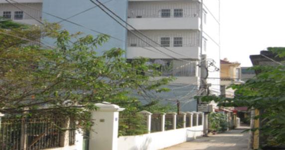 Đường vào tòa chung cư mini Phú Thượng A Tây Hồ Hà Nội