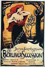 The new artists, In revolt apinst the traditional art establishment, the Berliner Secession was a breakaway group of artists formed in 1898. This poster advertises their first exhibition, held the following year.