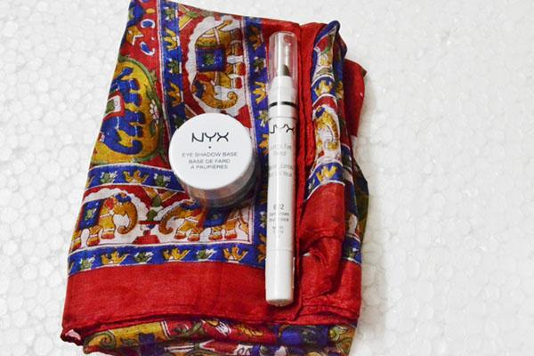 NYX Jumbo eyeshadow pencil and eyeshadow primer