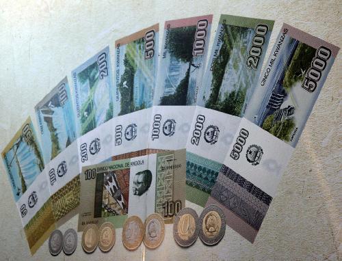Angola 5000,2000,1000 and 500 Kuanzas October 2012  set 4 bank notes New
