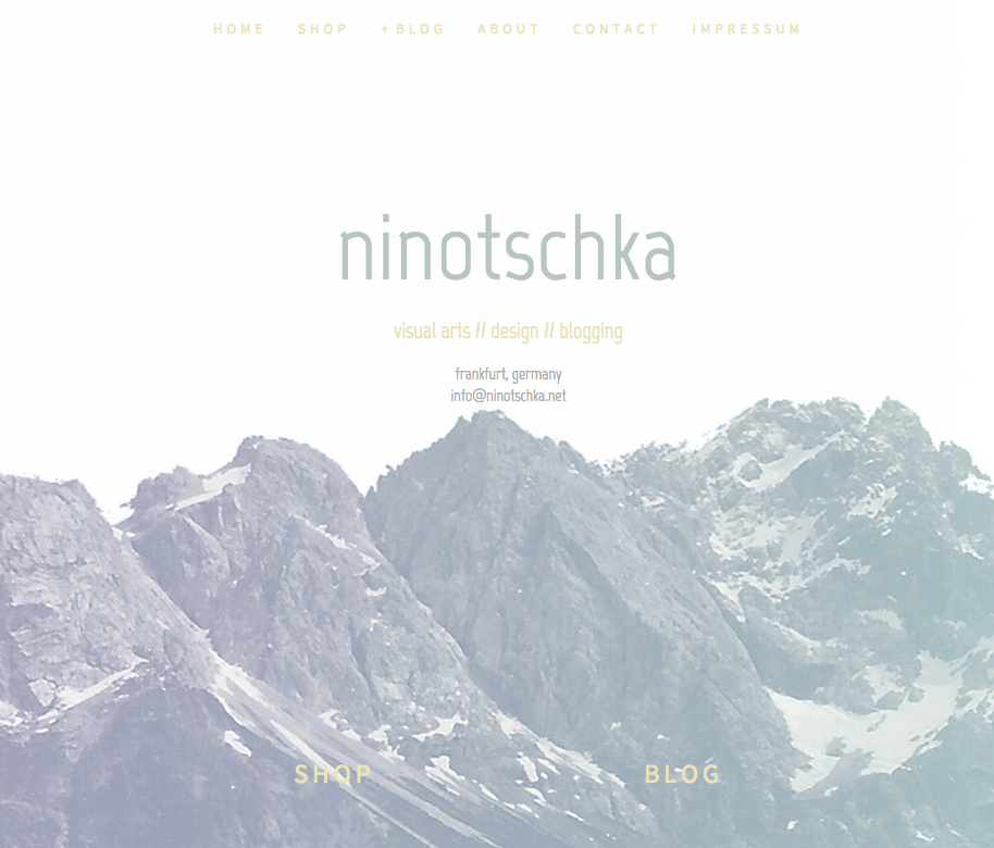 new design and domain for ninotschkas blog