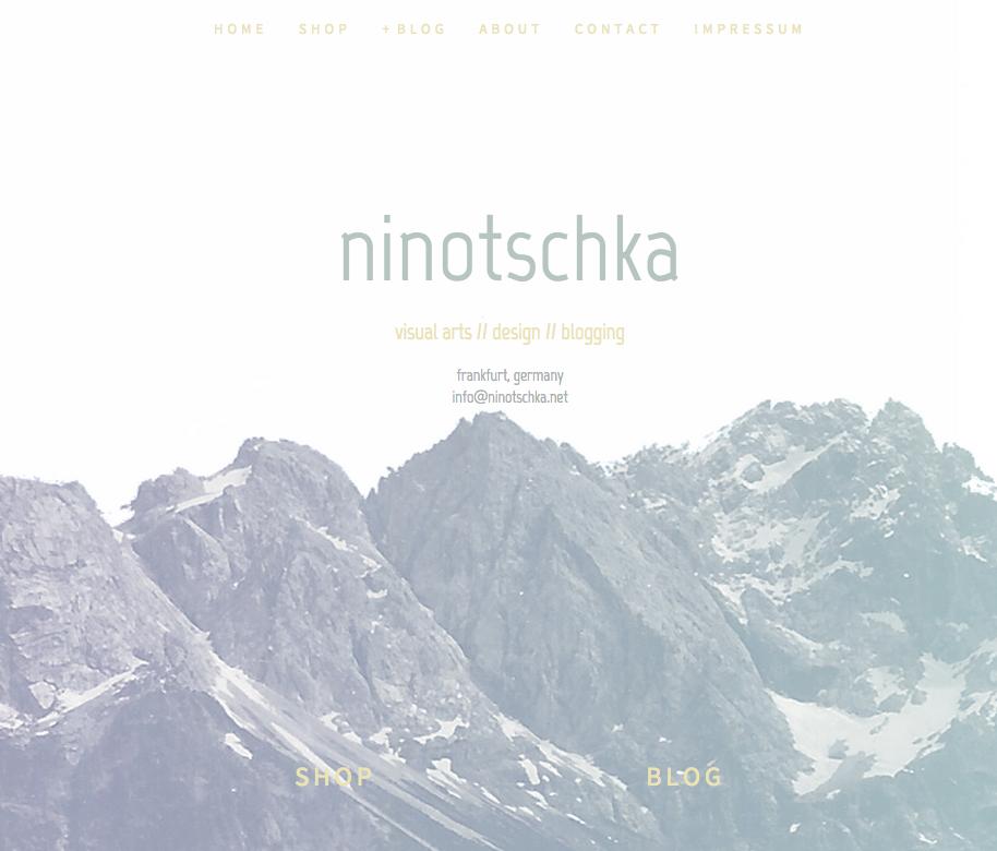 new design and domain for ninotschkas blog