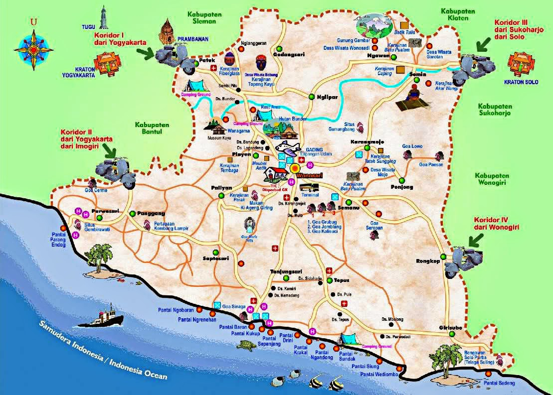 Jogja Tourism Map