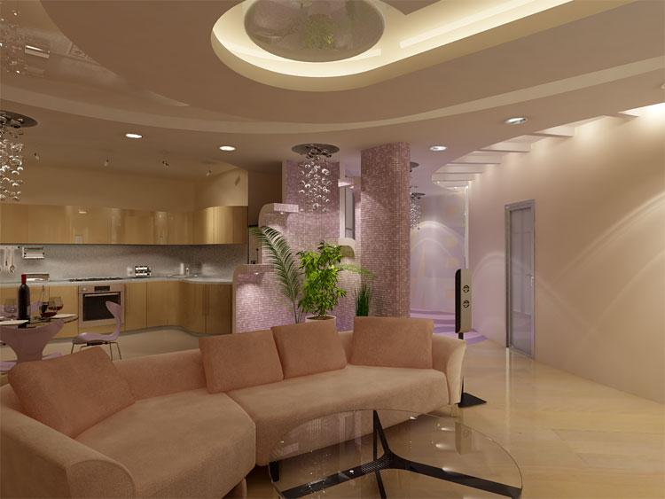Дизайн потолка и стен
