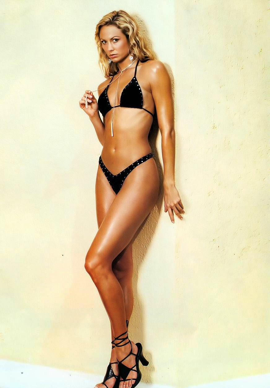 Stacy Keibler in a black bikini