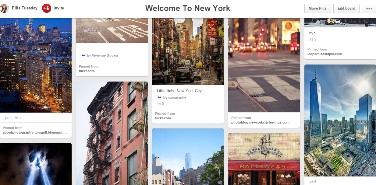 New York Travel Board Pinterest