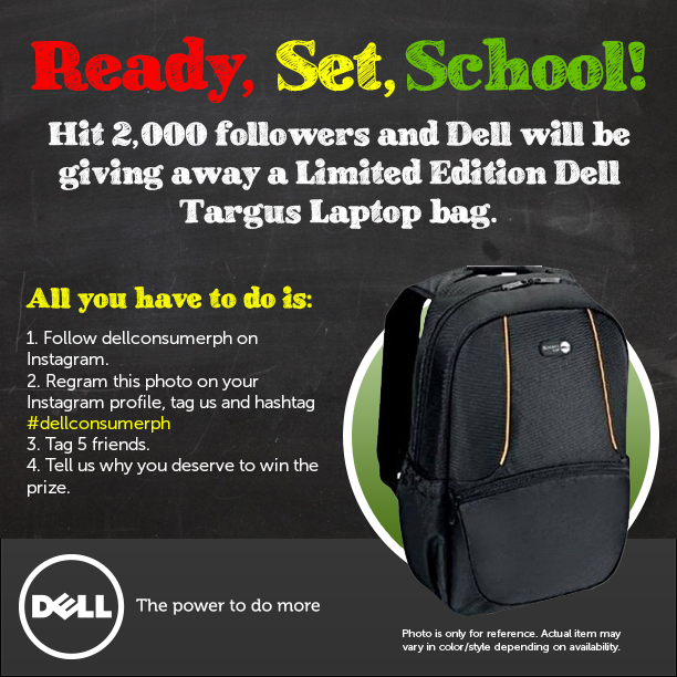 Dell PH Will Giving Away Targus Laptop Bag When They Hit 2,000 Instagram Followers
