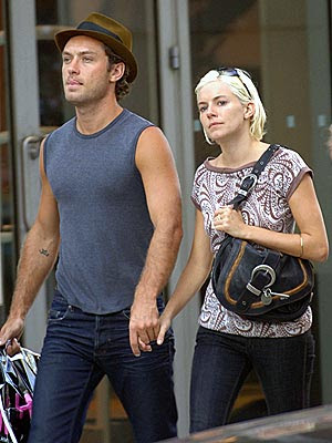 Jude Law With His Wife
