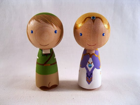 Doeblerghini Bunch:  Peg Link and Zelda Cake Topper