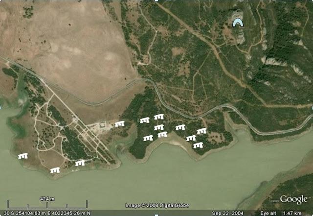 Mapa de localización de los dólmenes