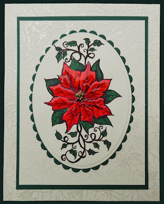 Our Daily Bread Designs,  Poinsettia Background, Blessed Christmas