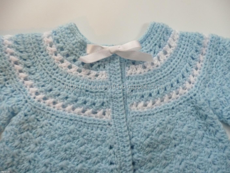 Abrigadita chaquetita para recién nacido a dos colores.... Canesú ...