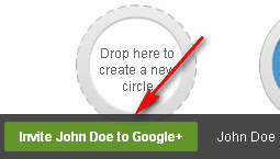 Google+ Circles: Invite to Google Plus