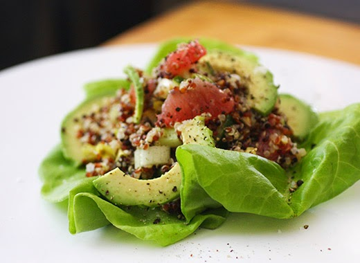 ... is cooking: Citrusy Quinoa Salad with Avocado, Cucumber, and Almonds