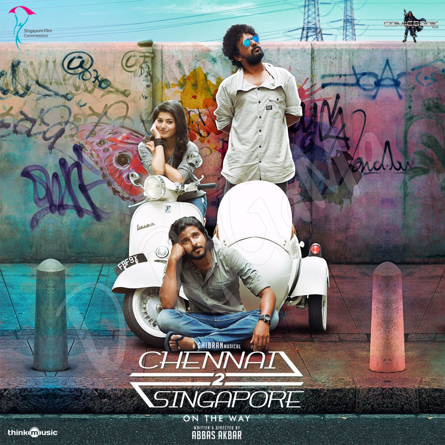 Chennai-2-Singapore-Tamil-Movie--2016-Telugu-2016-CD-Front-Cover-Poster-Wallpaper-HD