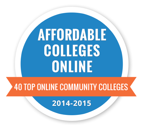 Afflordable Colleges Foundation seal for 40 Top Online Community Colleges