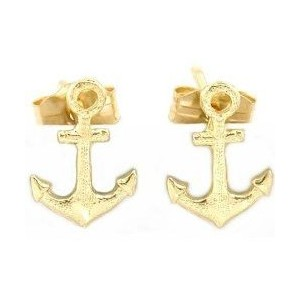 Gold Anchor Earrings7