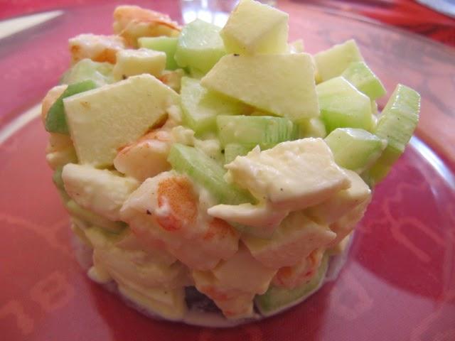 La cuisine de gaelle entr e fraiche aux crevettes for Entree fraiche et rapide