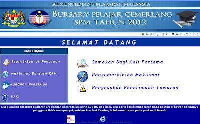 Program Bursary Cemerlang SPM 2012