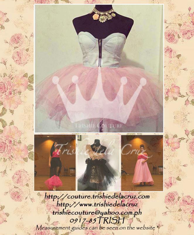 TRISHIE COUTURE GOWNS (RATES UPDATED) PRICE LIST | Your Fashion ...