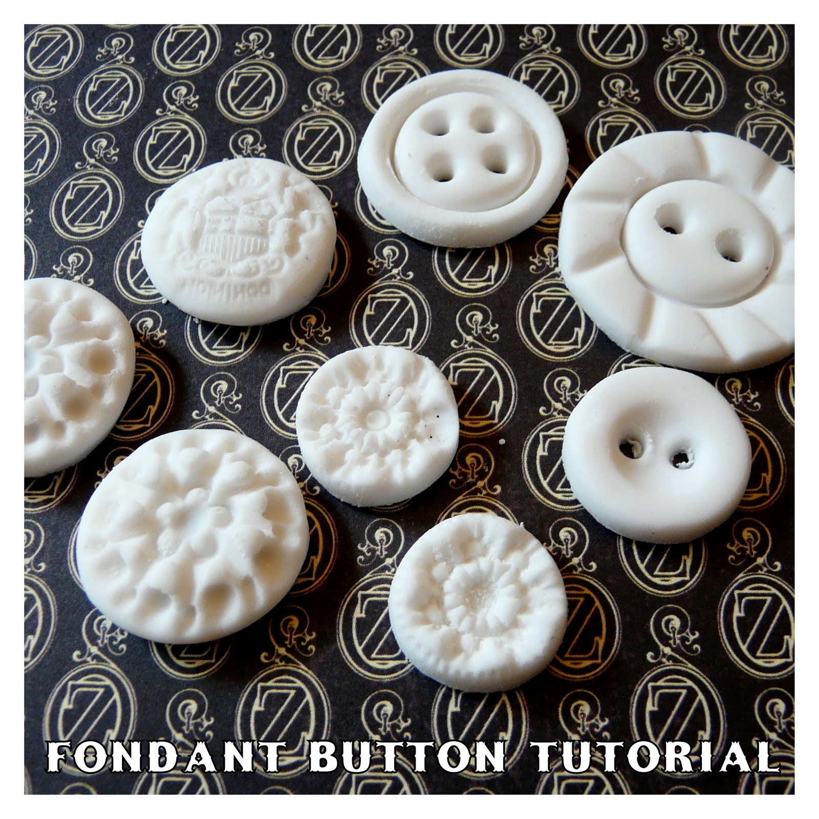 how to make fondant buttons
