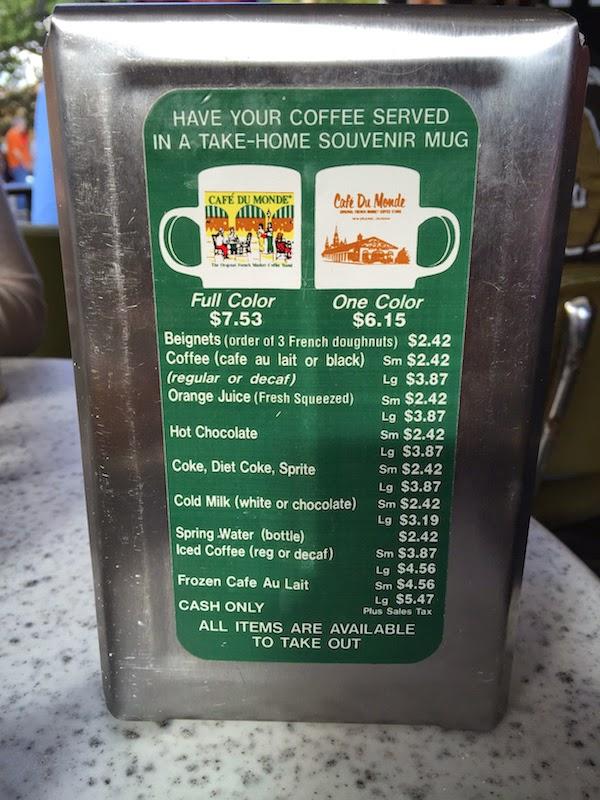 Eves Cafe Menu