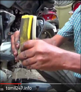 drain water from air filter in motor bike tamilnadu floods bike start technique