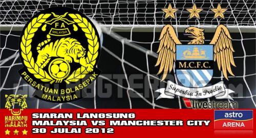 Keputusan Malaysia Vs Manchester City 30 Julai 2012
