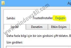 Windows 8 Uygulama Kurulum Klasörü