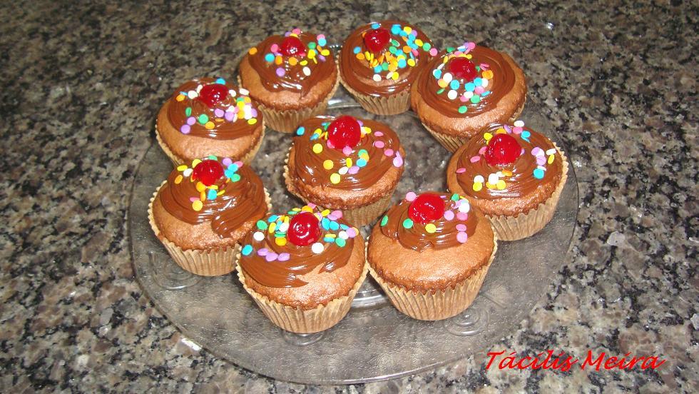 Cuchara de postre cupcake de chocolate - Cuchara de postre ...