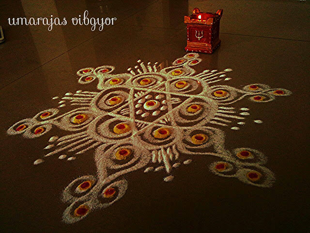Simple Rangoli for Diwali 6