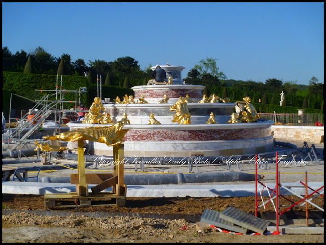 Latone fountain Versailles restoration May 2015