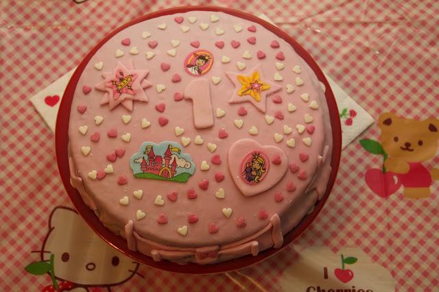 gateau anniversaire rose