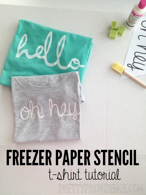 DIY: Freezer Paper Stencil Shirt - Pretty Providence