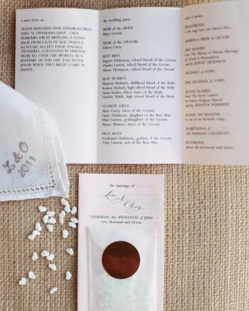 Programa de boda