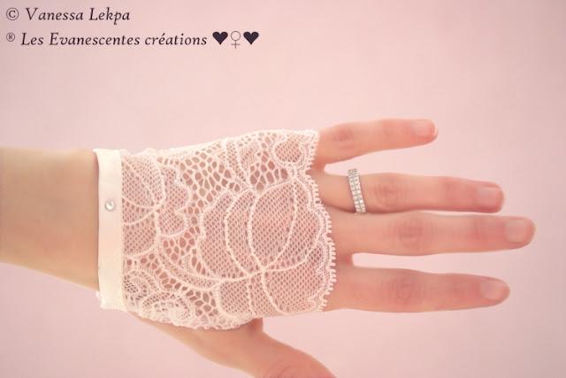 gant de mariée dentelle francaise haute couture